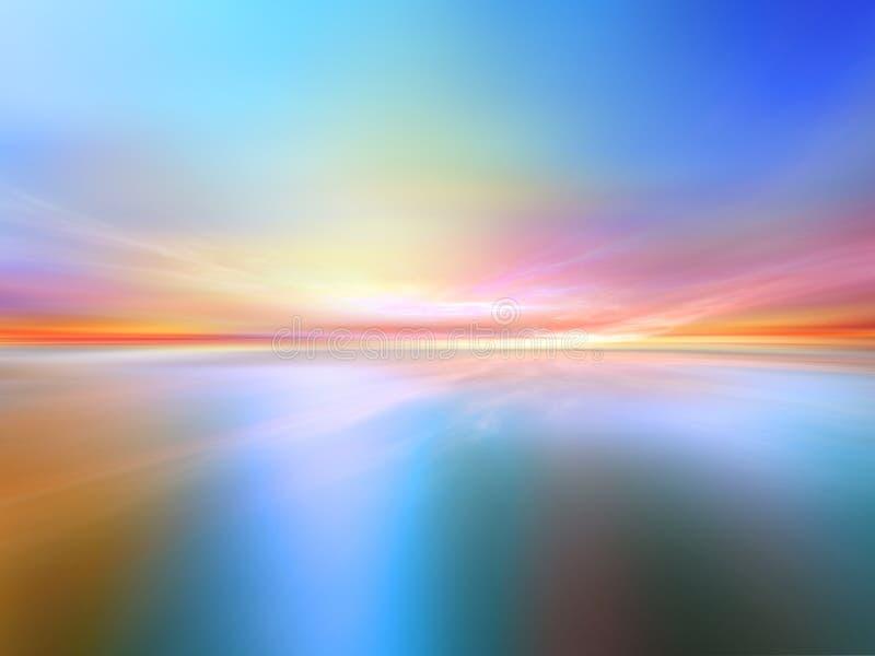 fractal krajobraz ilustracji
