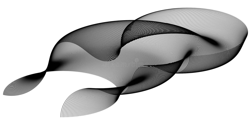Fractal kromming van het ruimte abstracte 3d netwerk van de deeltjesgolf in de stijl van de cybertechnologie, Gegevens vector abs stock illustratie