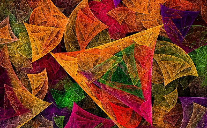 Fractal kunstachtergrond voor creatief ontwerp royalty-vrije illustratie