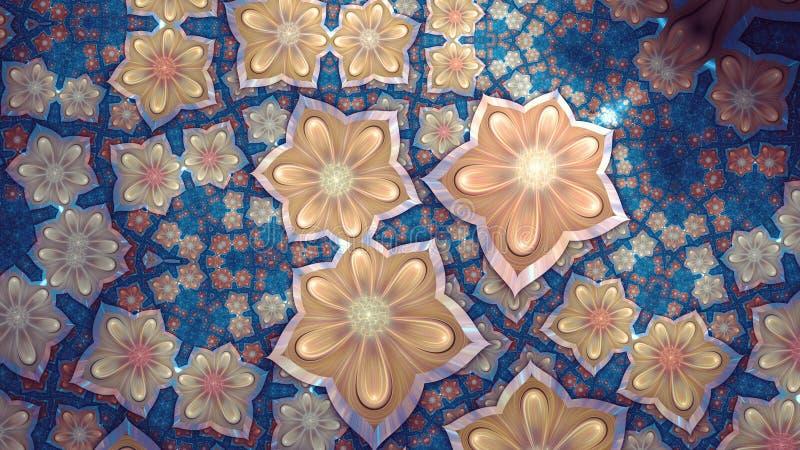 Fractal kwiat ilustracja wektor