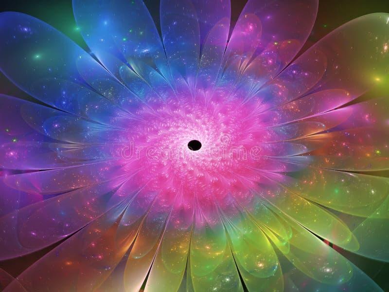 Fractal kwiatu tła wzoru pięknego sen przejrzysta wyobraźnia, unikalna ilustracji
