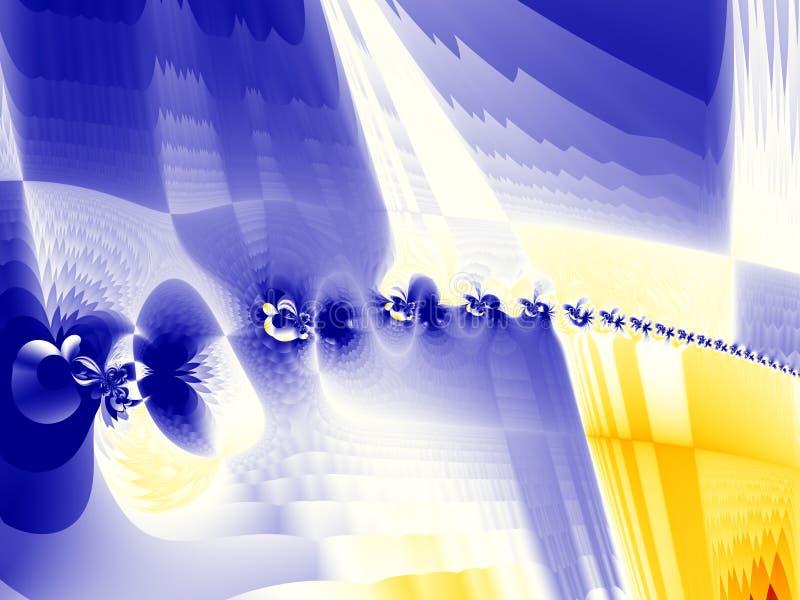 Fractal magnetische oppervlakte vector illustratie