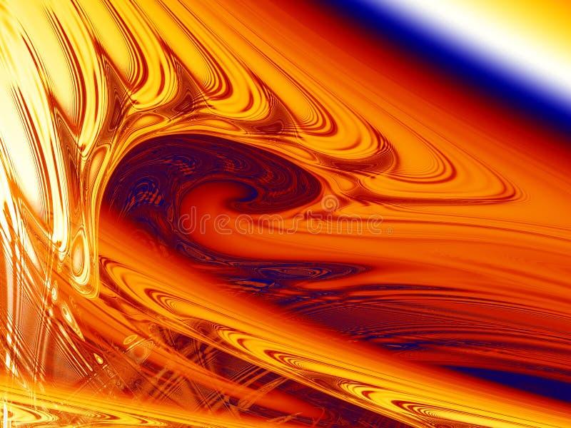 Fractal magnetische vloeistof vector illustratie