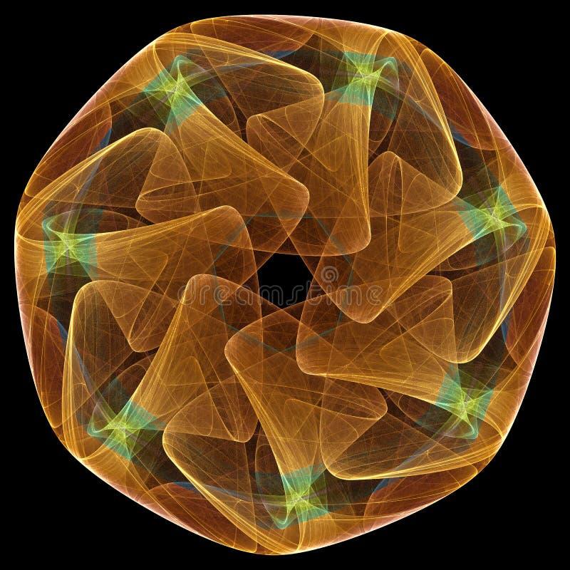 Download Fractal Mandala On Black Background Stock Illustration - Illustration of modern, abstract: 18907934
