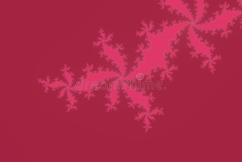 Fractal Mandelbrot αφηρημένο γεωμετρικό υπόβαθρο ταπετσαριών με τις υπνωτικές μορφές και τα κόκκινα χρώματα ελεύθερη απεικόνιση δικαιώματος