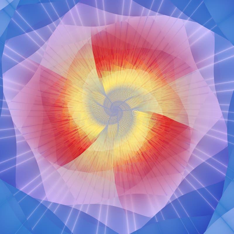fractal matrix obrazu energetyczna royalty ilustracja