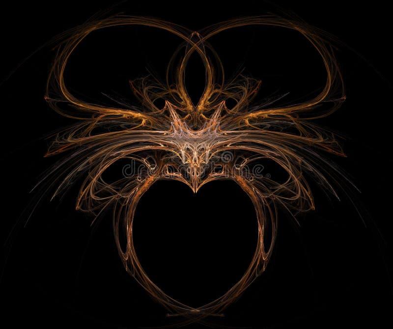 Fractal met hart vector illustratie