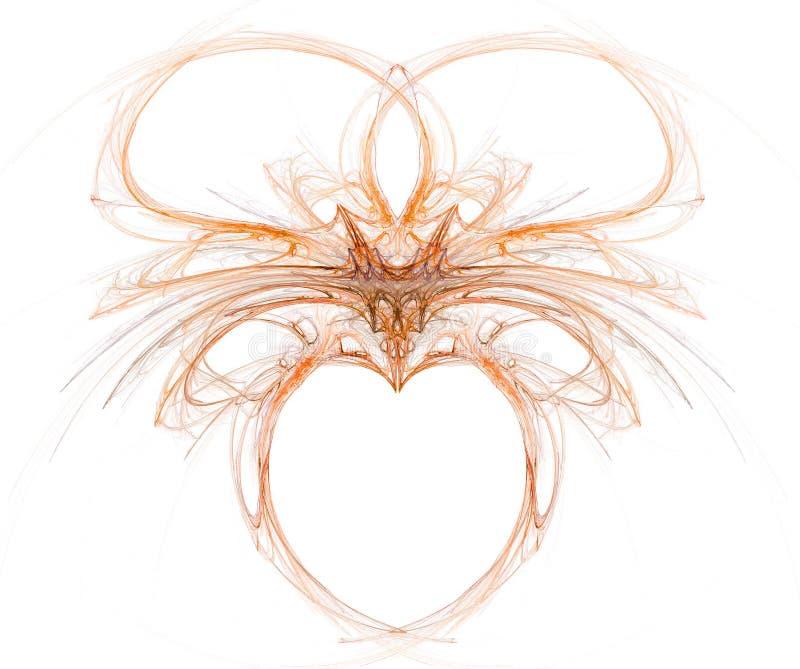 Fractal met hart stock illustratie