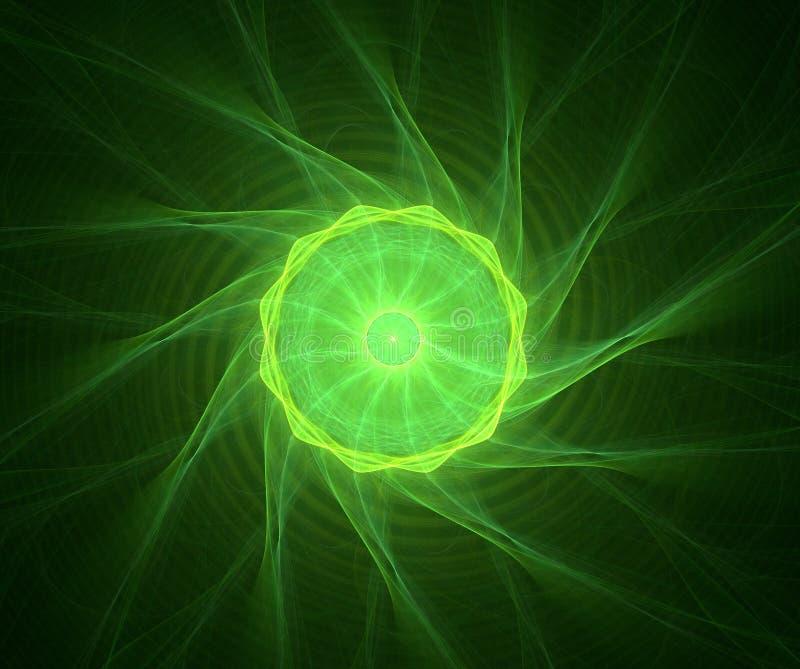 Fractal met ster; abstract ontwerp, achtergrond royalty-vrije illustratie