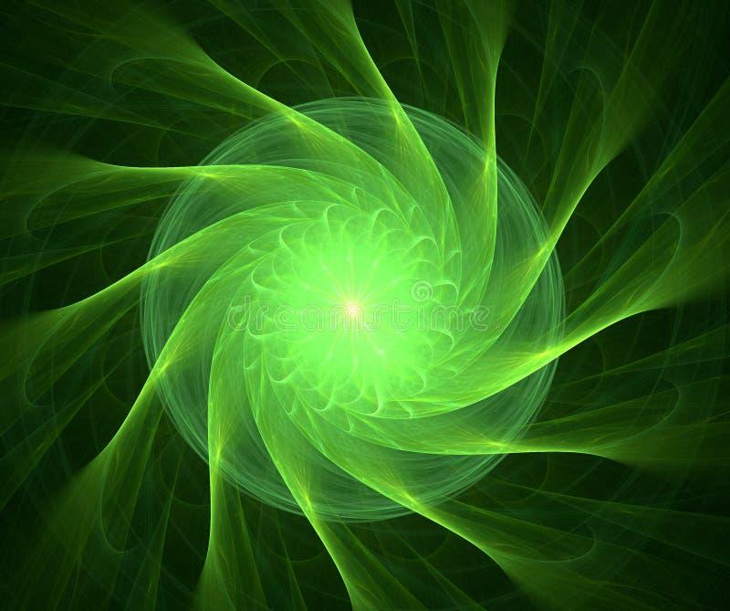 Fractal met ster; abstract ontwerp, achtergrond vector illustratie