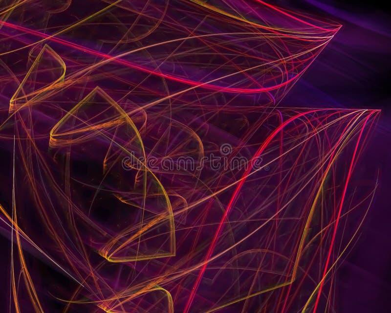 Fractal moderno del caos digital dinámico futuro del extracto, imaginación del diseño del misterio del cartel del flujo, surreali imagen de archivo libre de regalías