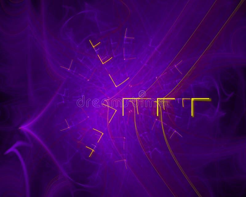 Fractal moderno digital dinámico futuro del movimiento del extracto, imaginación del diseño del misterio del cartel del flujo, gr fotos de archivo libres de regalías