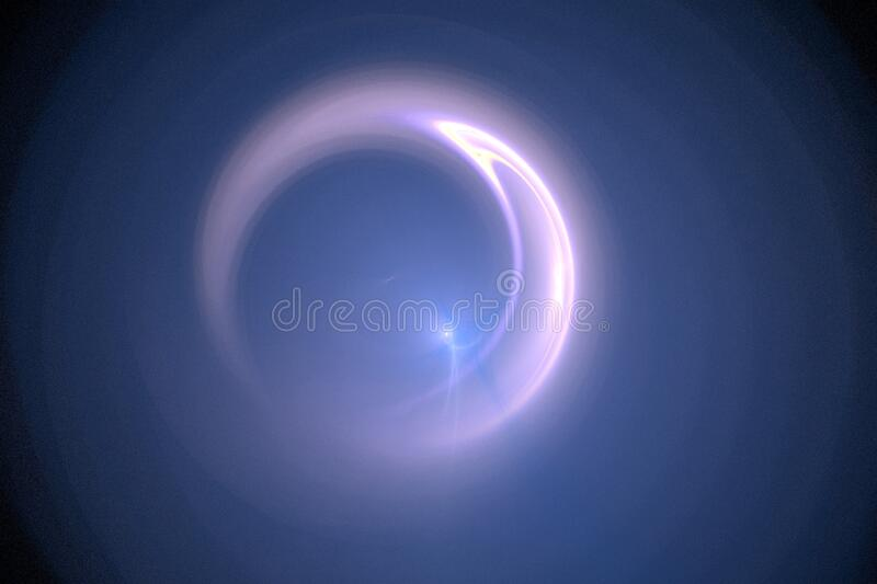 fractal moon royalty free stock photography