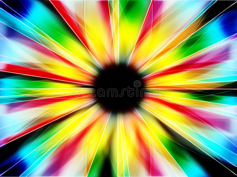 Fractal multicolor ilustración del vector