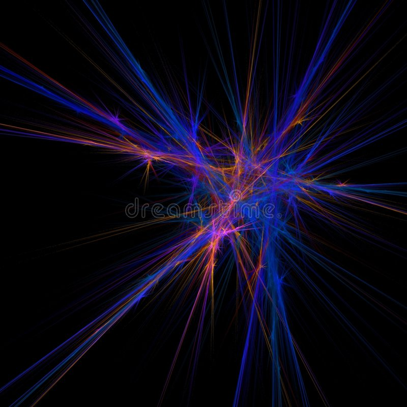 Fractal nerve vector illustration