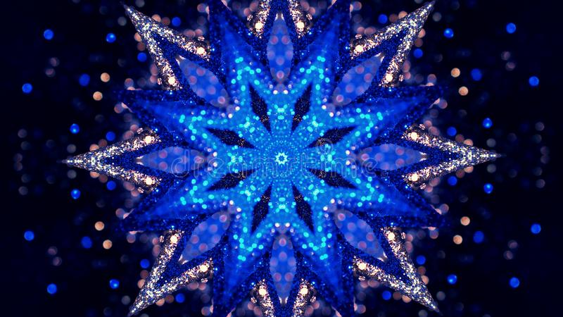 Fractal Noise and Kaleidoscopic. Pattern made with Particle System. mirror prism creating toy effect, with shimmering royalty free stock photos
