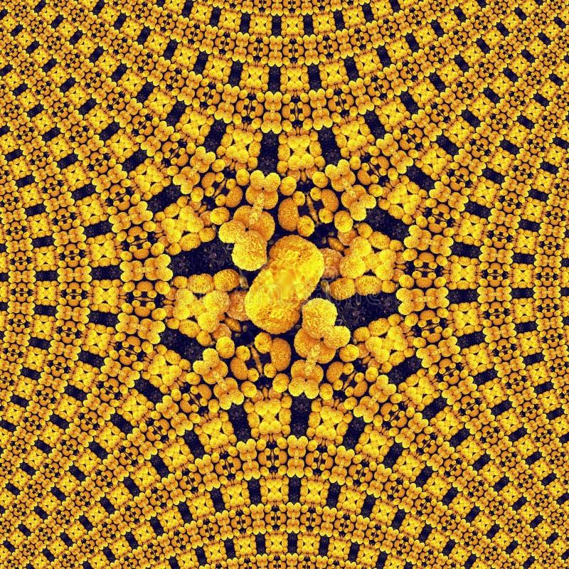Fractal patroon abstract behang als achtergrond dynamische textuur royalty-vrije illustratie