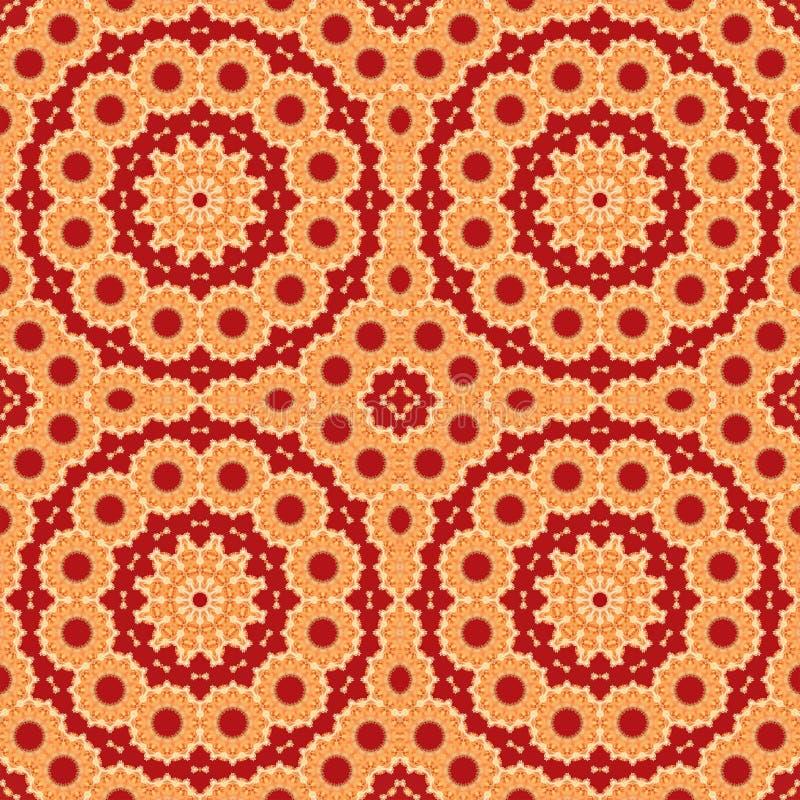 Fractal patroon abstract behang als achtergrond symmetrie het teruggeven royalty-vrije illustratie