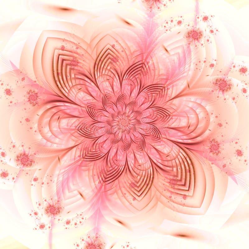 Delicate floral fractal pattern illustration stock illustration