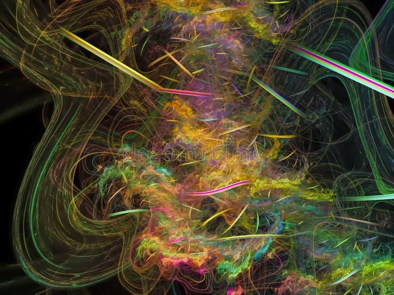 Fractal piękna tajemnica wytwarza energetycznego wyobraźnia sen przejrzystą wyobraźnię, ilustracja wektor