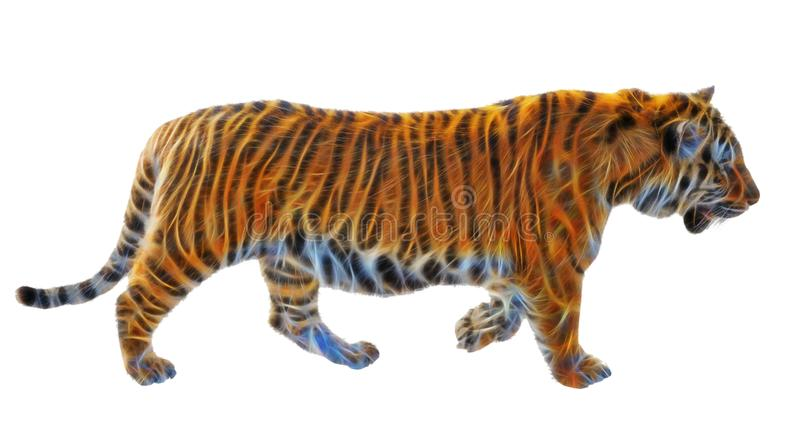 Fractal picture of Amur tiger royalty free stock photos