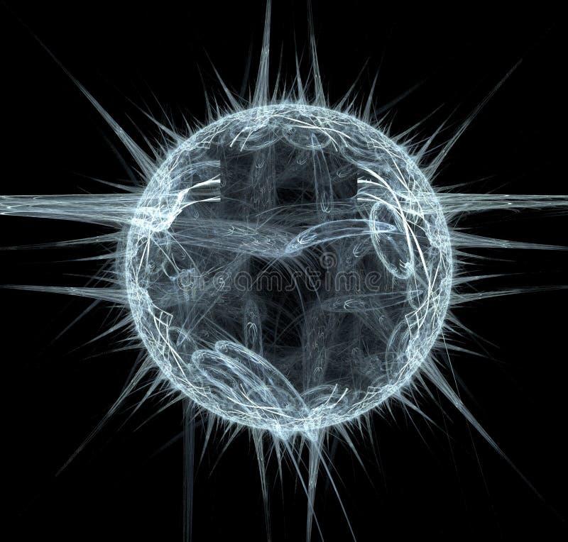 Fractal planet. On black background vector illustration