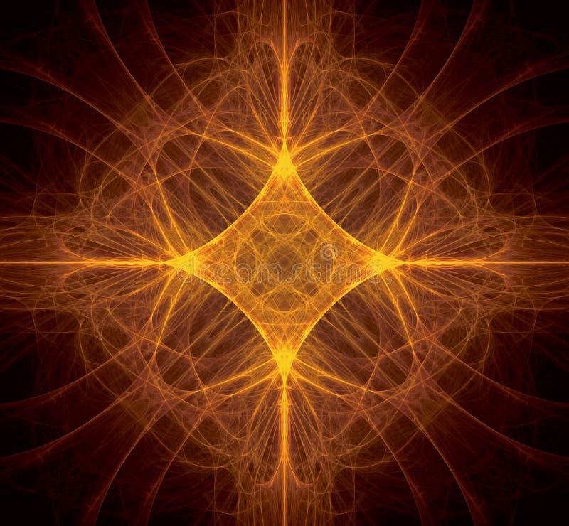 Fractal pomarańcze gwiazda ilustracji