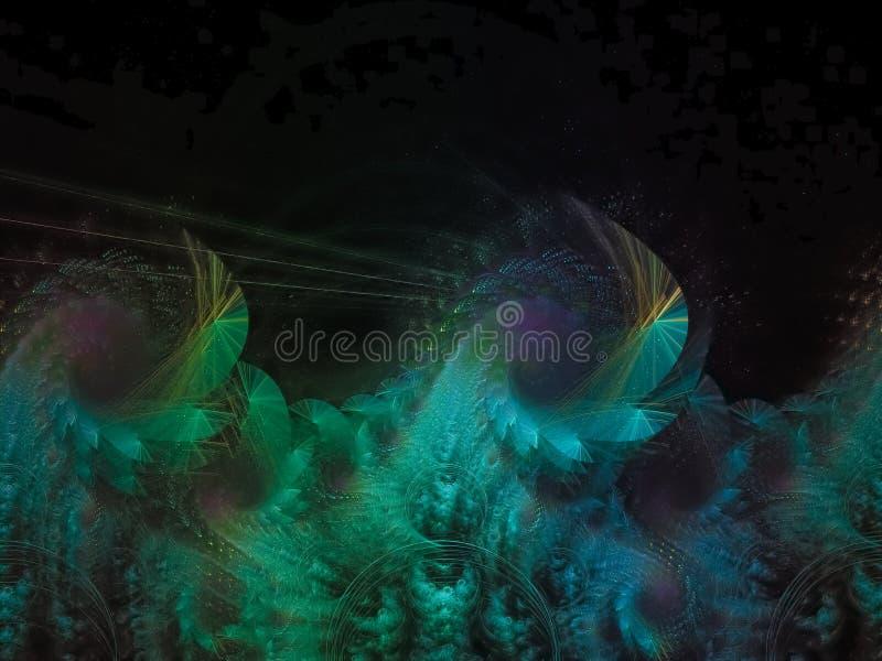 Fractal produceert de abstracte elegante gevoelige het blaasjespiraal van de patroonkrul artistiek royalty-vrije stock foto's