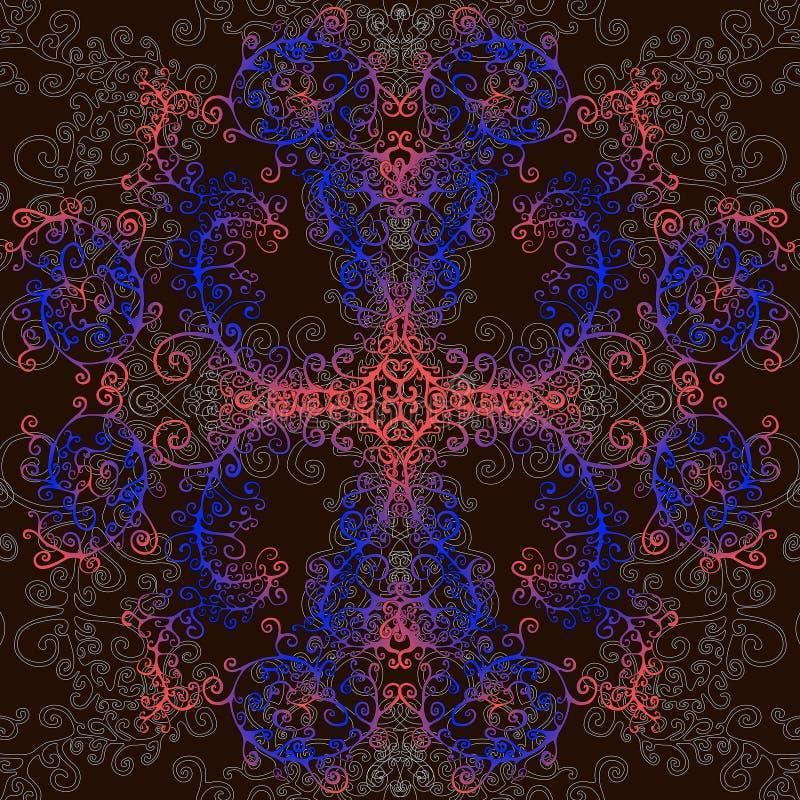 Fractal, psychedelische achtergrond royalty-vrije illustratie