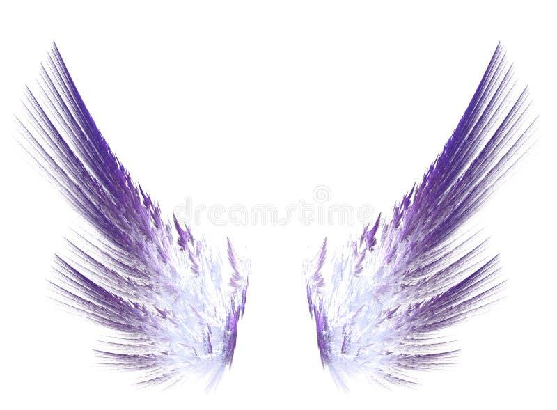 Fractal purpura uskrzydla na białym odosobnionym tle ilustracji