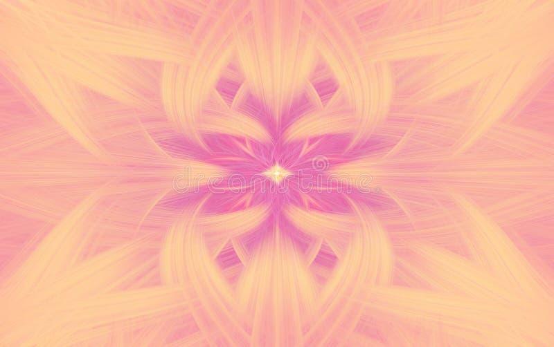 Fractal rosado geom?trico del fondo del modelo blur ilustración del vector