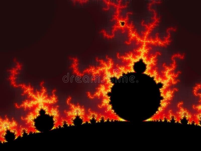 fractal słońce royalty ilustracja