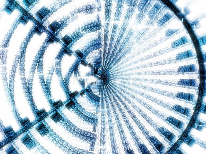 Fractal schijf - abstract digitaal geproduceerd beeld vector illustratie
