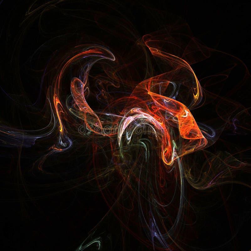 Fractal smoke stock illustration