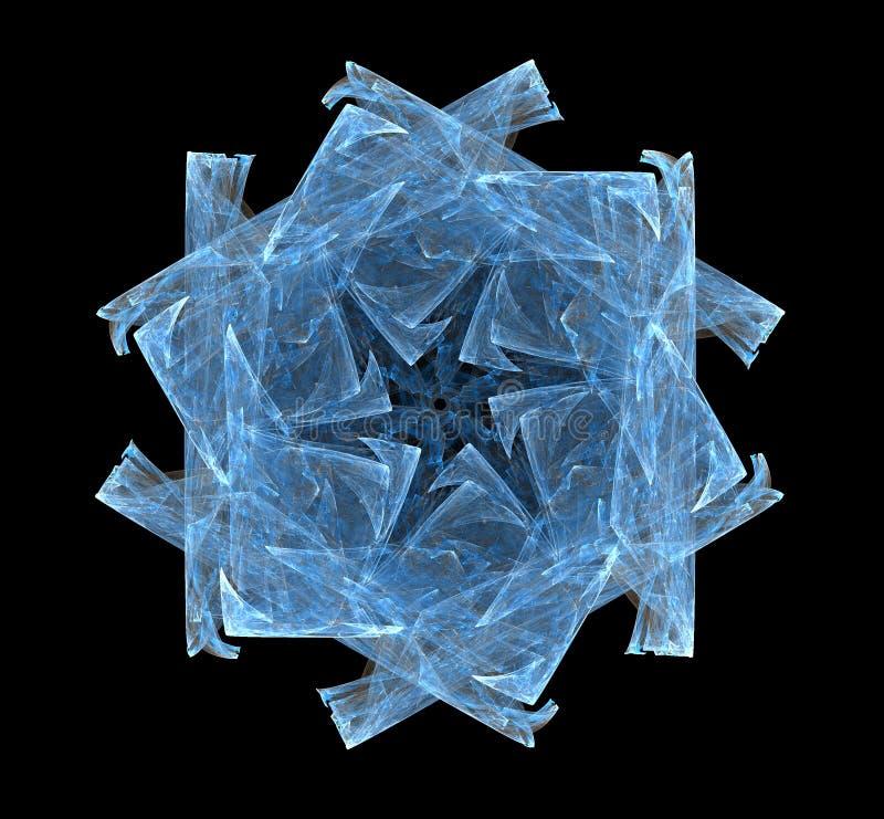Fractal sneeuwvlok stock illustratie