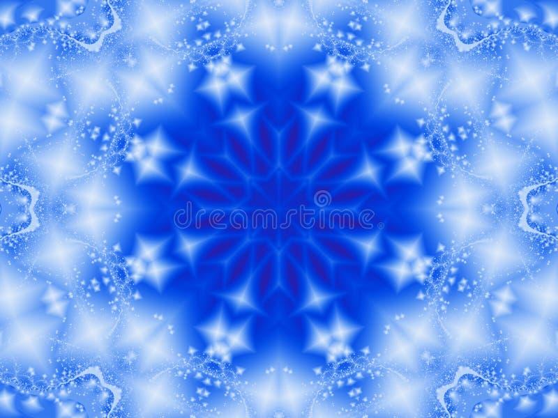 Fractal sneeuwvlok royalty-vrije illustratie