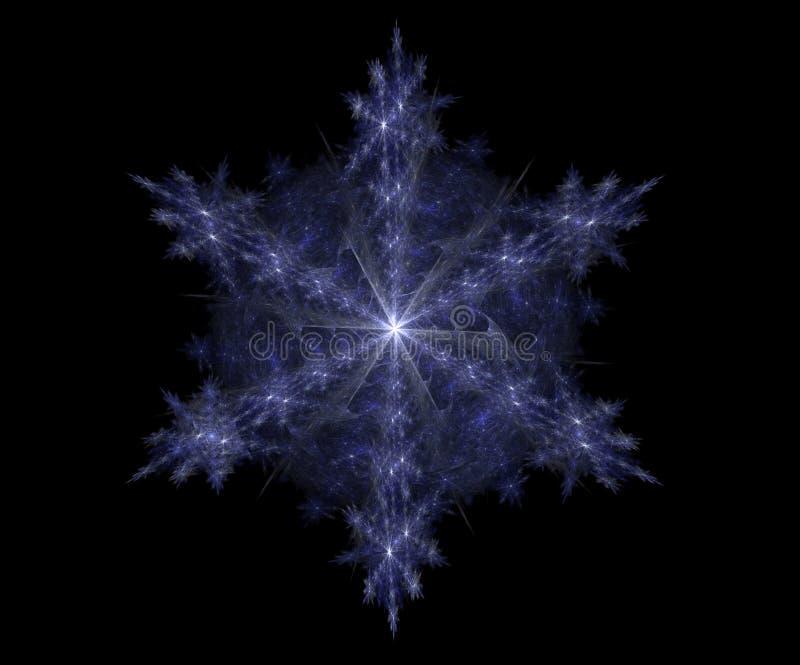Fractal Sneeuwvlok II royalty-vrije illustratie