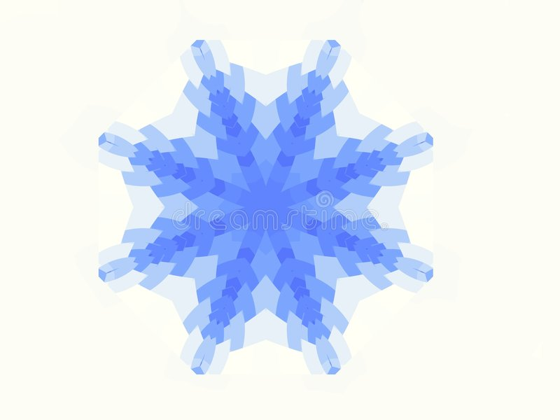 Fractal Snow Flake Royalty Free Stock Photography