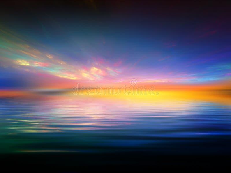 Fractal-Sonnenuntergang stock abbildung