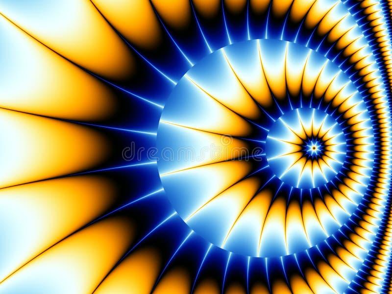 Fractal-Spirale vektor abbildung