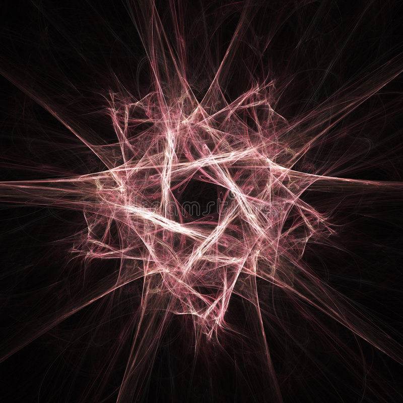 Fractal star vector illustration