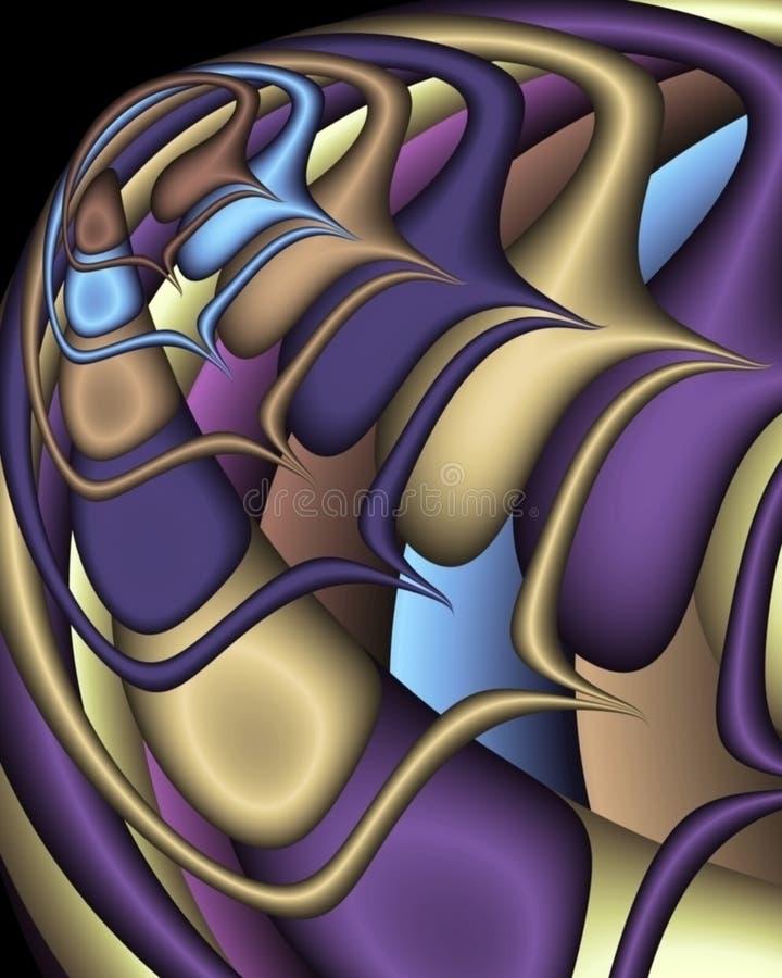 fractal statku kosmicznego. ilustracja wektor