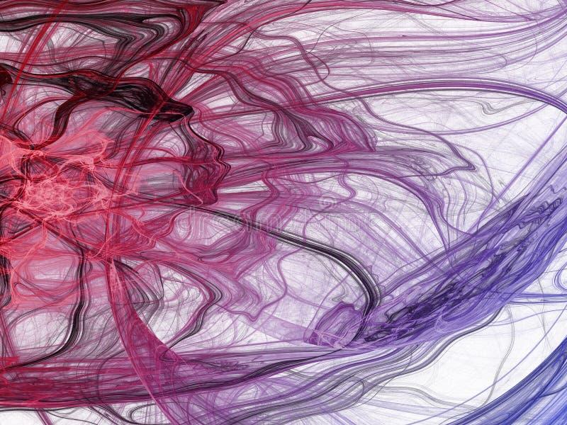 Fractal stieg Digital-Collage stock abbildung