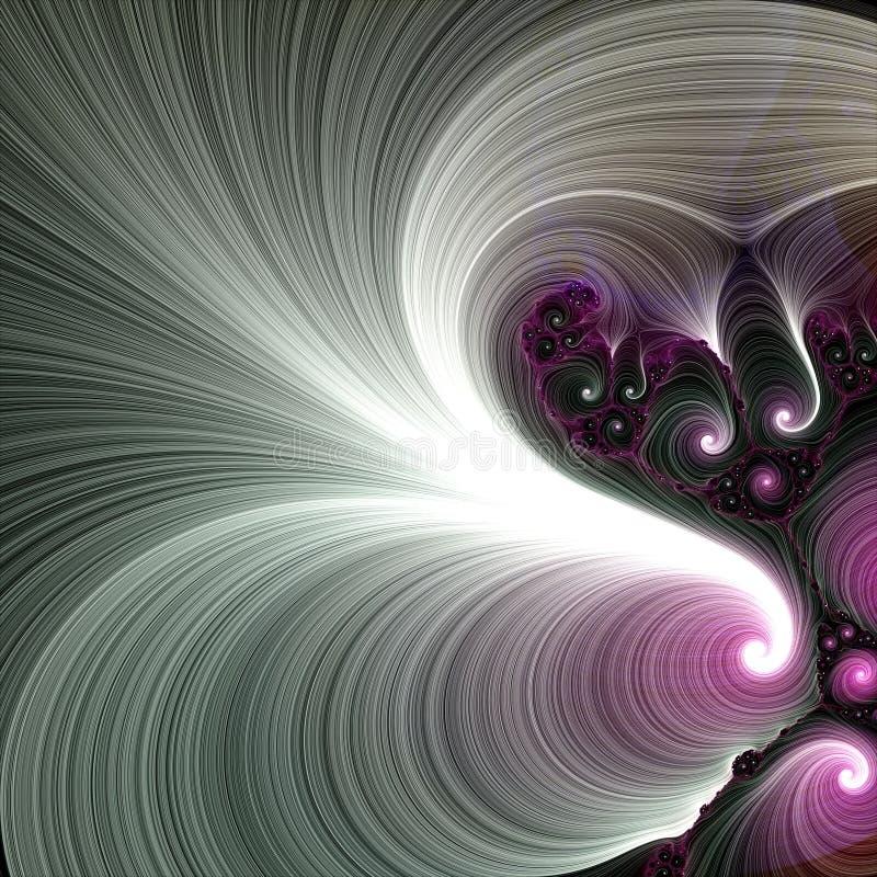 Fractal stromende achtergrond in violette tinten vector illustratie