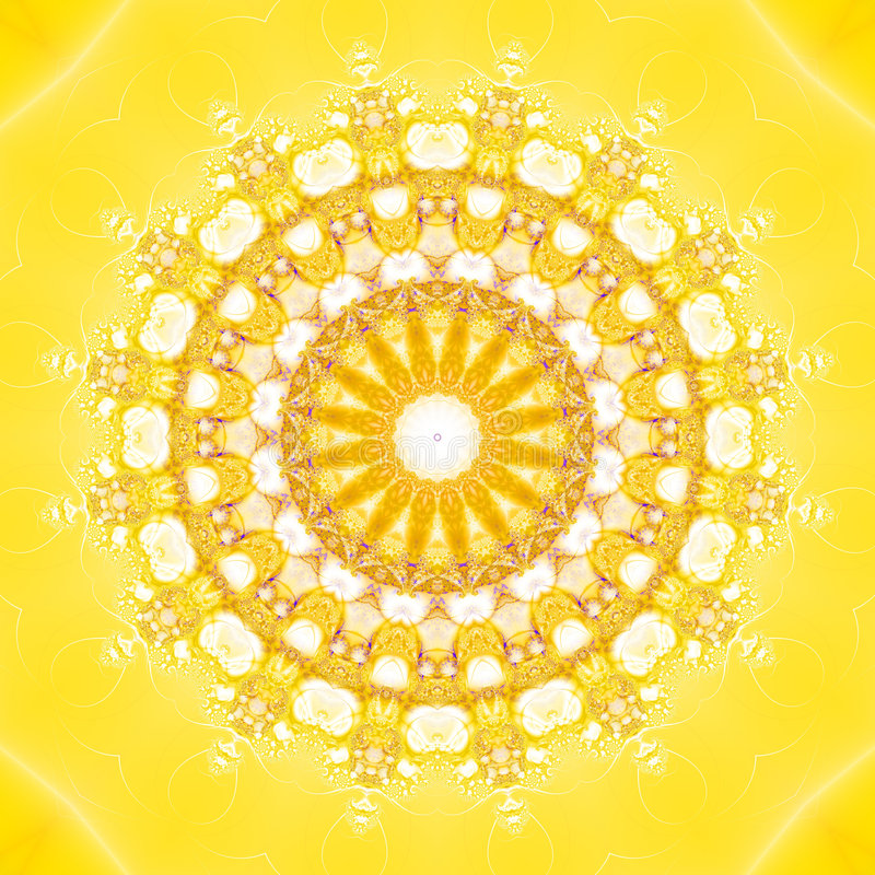 Fractal Sun stock photo