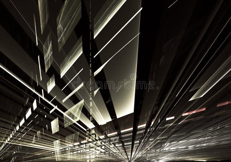 Fractal sztuka - komputerowy 3D wizerunek, technologiczny tło obraz royalty free