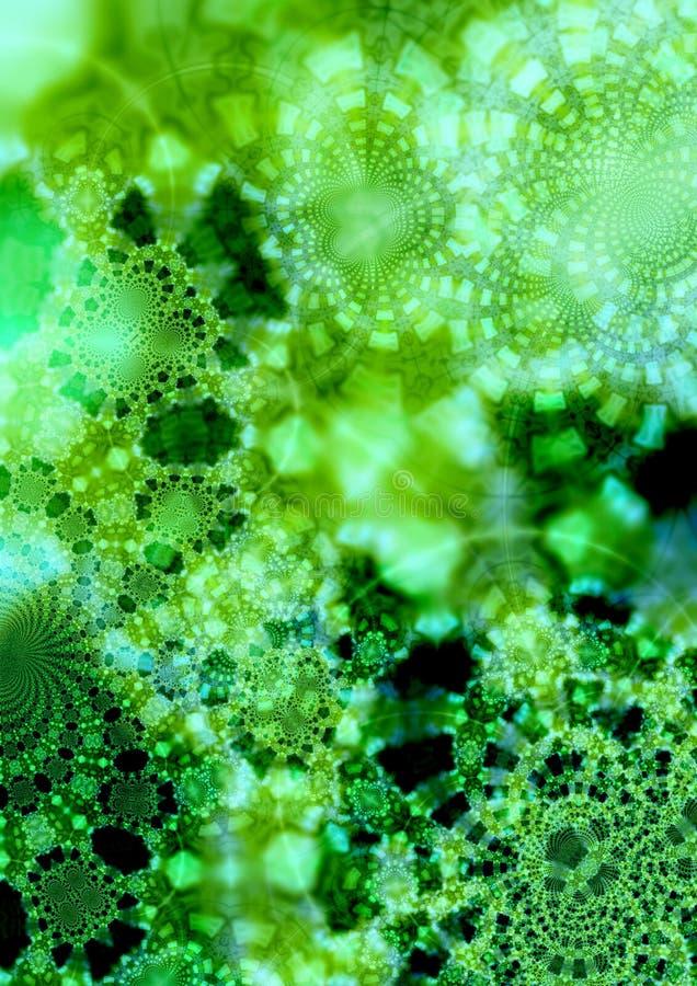 fractal tła green royalty ilustracja