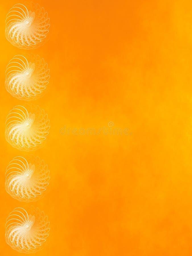 fractal tła grunge pomarańcze ilustracja wektor