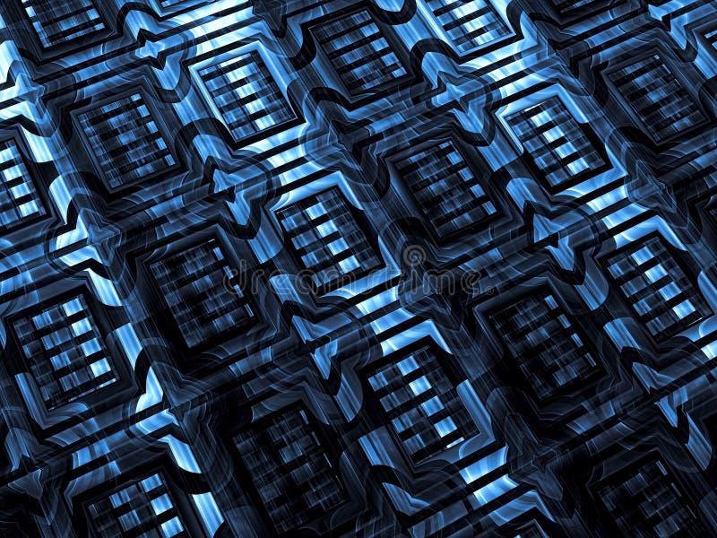 Fractal tekstura - abstrakta cyfrowo wytwarzający wizerunek ilustracji