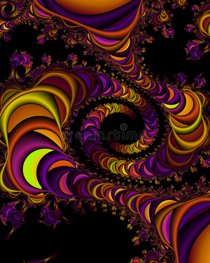 Fractal universe vector illustration